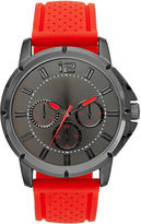 JCPenney FASHION WATCHES Mens Rubber Strap Faux Subdial Watch