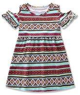 Hemlock Little Girl Summer Bohemian Dress Kids A-Line Dress (5T, Wine)