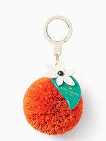 Kate Spade Raffia orange keychain