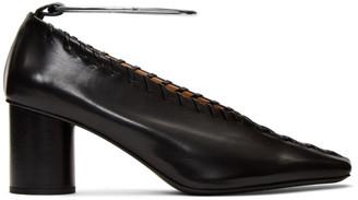 Jil Sander Black Whipstitch Anklet Heels
