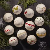 Crate & Barrel Set of 12 Days of Christmas Ornaments