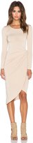 Donna Mizani Knot Front Midi Dress