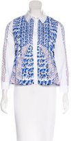 Peter Pilotto Printed Button-Up Top