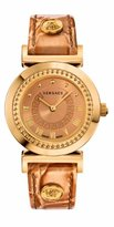 Versace Women's P5Q80D999 S999 Vanity Analog Display Swiss Quartz Gold Watch
