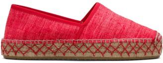 Car Shoe Round-Toe Silk Espadrilles