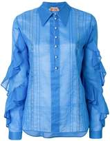 No.21 ruffle sleeve shirt