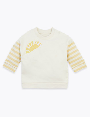 Marks and Spencer Cotton Sunshine Print Sweatshirt (0 -36 Mths)