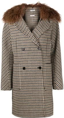 P.A.R.O.S.H. Liar houndstooth check coat