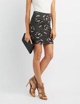 Charlotte Russe Paisley Bodycon Mini Skirt
