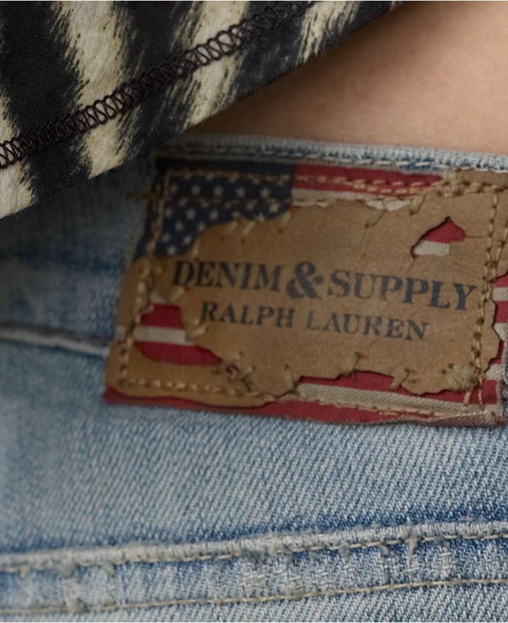 Denim & Supply Ralph Lauren Jeans, Skinny Beaded, Animal-Print