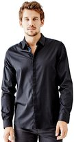 GUESS Lincoln Long-Sleeve Pieced Slim-Fit Shirt