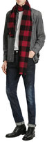 DSQUARED2 Wool Buffalo Check Scarf