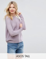 ASOS Tall ASOS TALL Sweater In Fluffy Yarn With Crew Neck