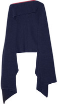 Stella McCartney Ribbed Wool Scarf - Navy