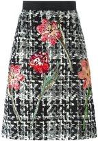 Dolce & Gabbana flower bouclé knit skirt - women - Silk/Cotton/Acrylic/Wool - 44