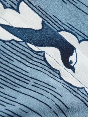 Blue Blue Japan Reversible Printed Chirimen Crepe Jacket