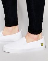 Lyle & Scott Herringbone Slip On Sneakers