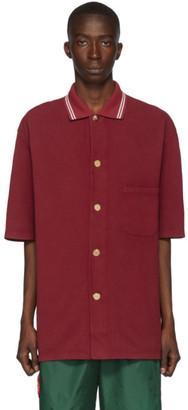 Gucci Red Pique Metallic Button Polo