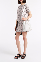 MSGM Pleat Panel Lace Dress