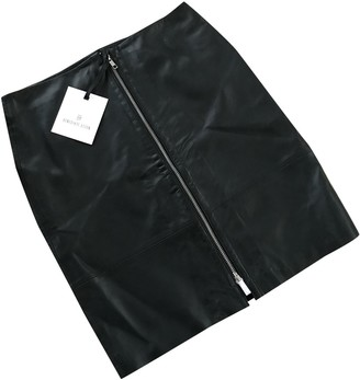 Utzon Black Leather Skirt for Women