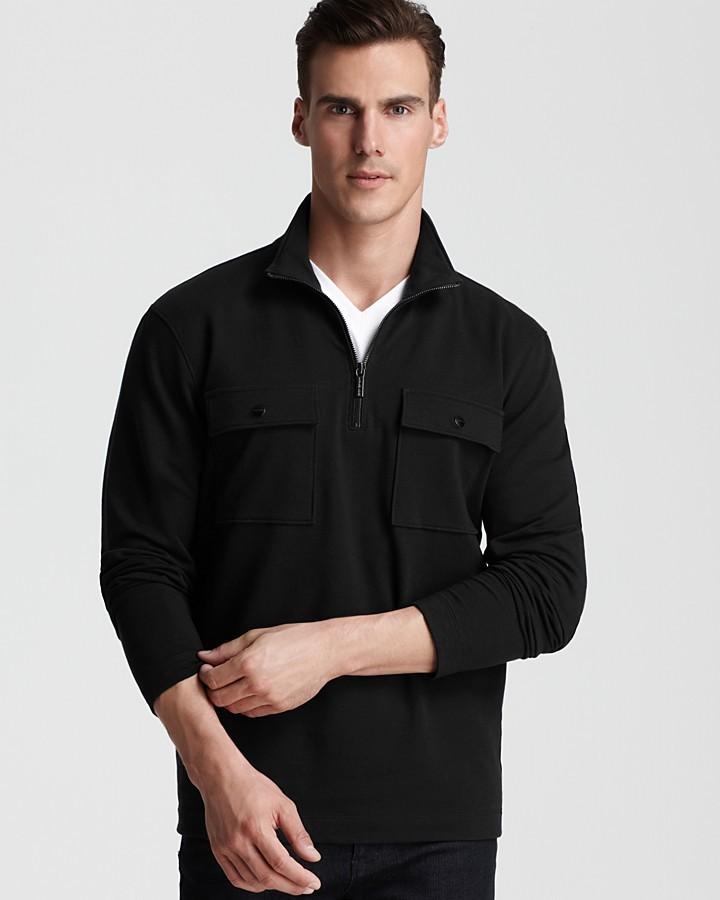 Michael Kors Fleece 2 Pocket Half Zip Pullover