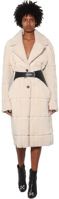 Off-White Oversized Shearling Coat