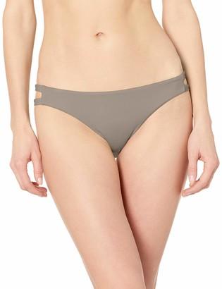 RVCA Junior's Solid Full TAB Side Bikini Bottom