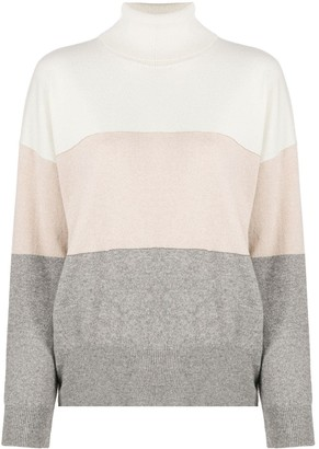 Peserico Colour Block Jumper