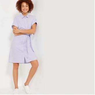 Joe Fresh Women's Short Sleeve Shirt Dress, Light Blue (Size XS)