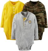 Carter's 3 Pack Jersey Bodysuits (Baby) - Assorted-3 Months