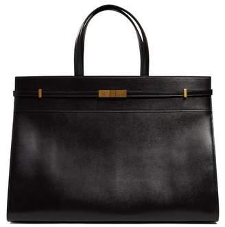 Saint Laurent Manhattan Large Leather Tote Bag - Mens - Black