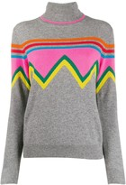 Chinti and Parker colour-block turtle neck top