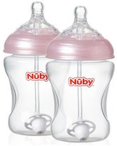 Nuby's Natural TouchTM 360? Anti-Colic Bottles 2 Pack - Girl