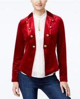 XOXO Juniors' Velvet Military Blazer