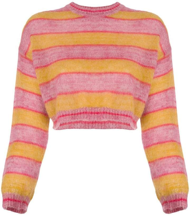 Alberta Ferretti cropped design sweater