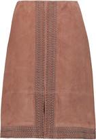 Elizabeth and James Riva studded suede skirt