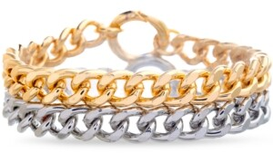 Steve Madden Two-Tone 2-Pc. Set Curb Link Bracelets