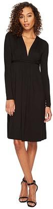 Rachel Pally Long Sleeve Caftan (Black) Women's Dress