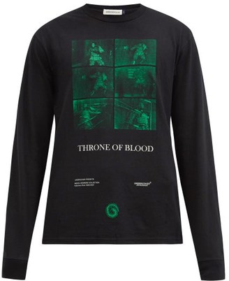 Undercover Throne Of Blood-print Cotton-jersey T-shirt - Black