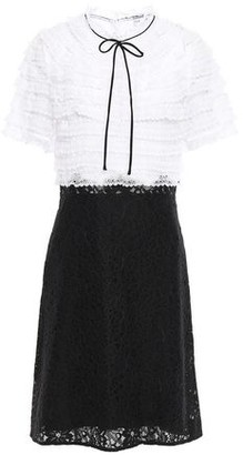 Sandro Paneled Lace And Organza Dress