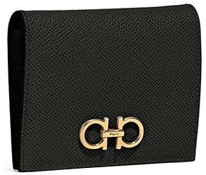 Salvatore Ferragamo Gancini Bi-Fold Leather Wallet