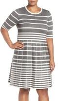 Gabby Skye Stripe Fit & Flare Dress (Plus Size)