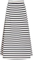 Alexander Wang Jersey Striped A-line Skirt