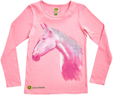 John Deere Pink Horse Crewneck Tee - Girls