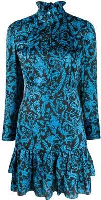 Sandro Paris brocade print short dress