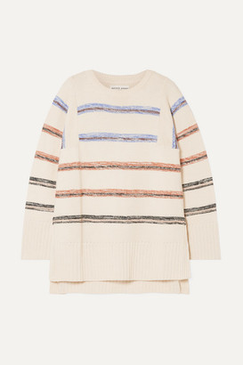 Apiece Apart Baja Striped Cotton Sweater - Cream