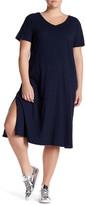 Allen Allen Short Sleeve Tee Dress (Plus Size)