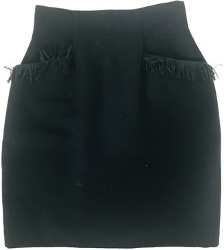Chantal Thomass Black Wool Skirt for Women Vintage