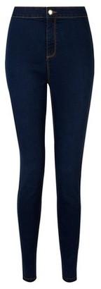 Dorothy Perkins Womens Indigo 'Lyla' High Waisted Skinny Jeans