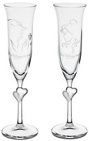 Disney Beauty and the Beast Glass Flute Set by Arribas - Personalizable